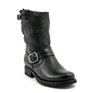 Frye Natalie Mid Engineer Lug Shearling Lined Boot